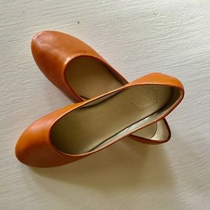 Shoes - Offio Brown Flat Shoes